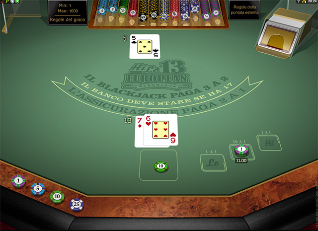 Blackjack Europeo
