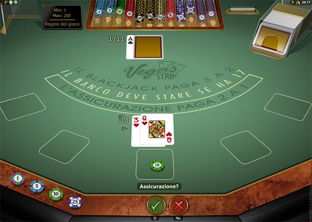 Video Blackjack Vegas